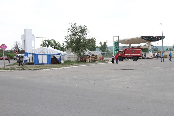 Пропускной пункт в Станице-Луганской