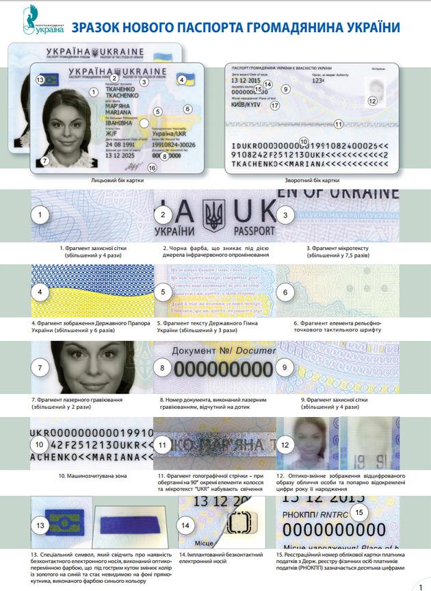 Где смотреть серию и номер паспорта украина