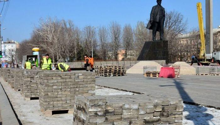 В Донецке реконструируют площадь Ленина