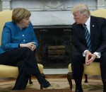 President Donald Trump meets with German Chancellor Angela Merkel in the Oval Office of the White House, Friday, March 17, 2017, in Washington. (AP Photo/Evan Vucci)