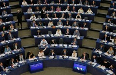 Members of the European Parliament take part in a voting session in Strasbourg, France, May 10, 2016. REUTERS/Vincent Kessler