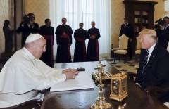 трамп - папа - ватикан1