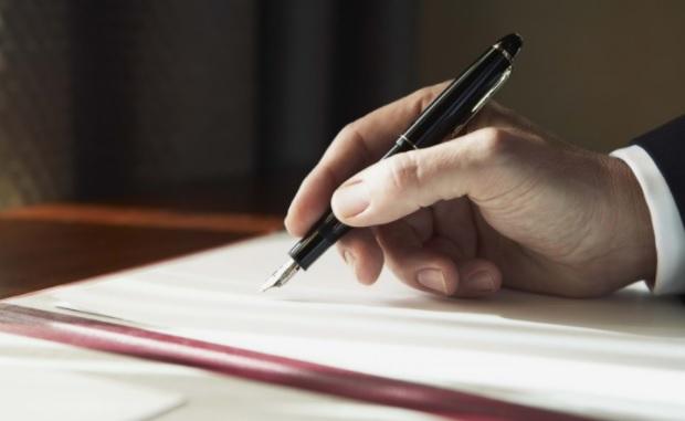 ручка подпись документ