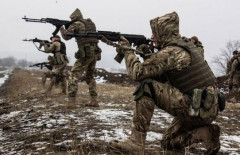 Ukrainian soldiers in the zone of the anti-terrorist operation in the east of Ukraine