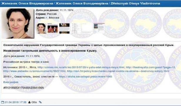 В базу «Миротворца» внесли имена еще трех российских киноактеров